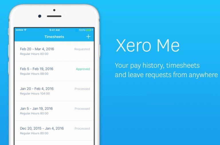 Xero Time Sheets mobile app